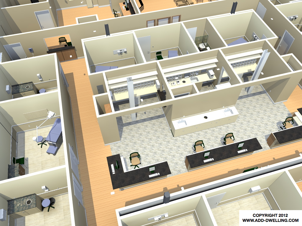 Medical Office 3D Plan
