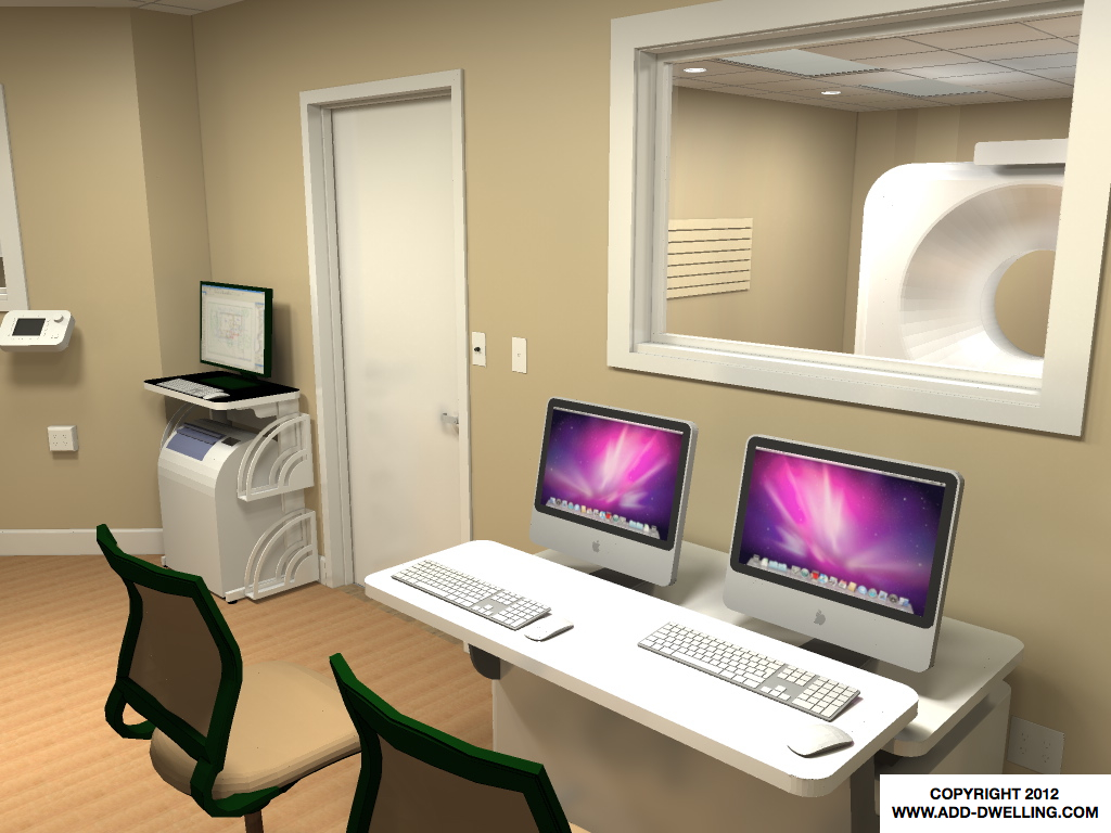 Medical Office CT Console rendering