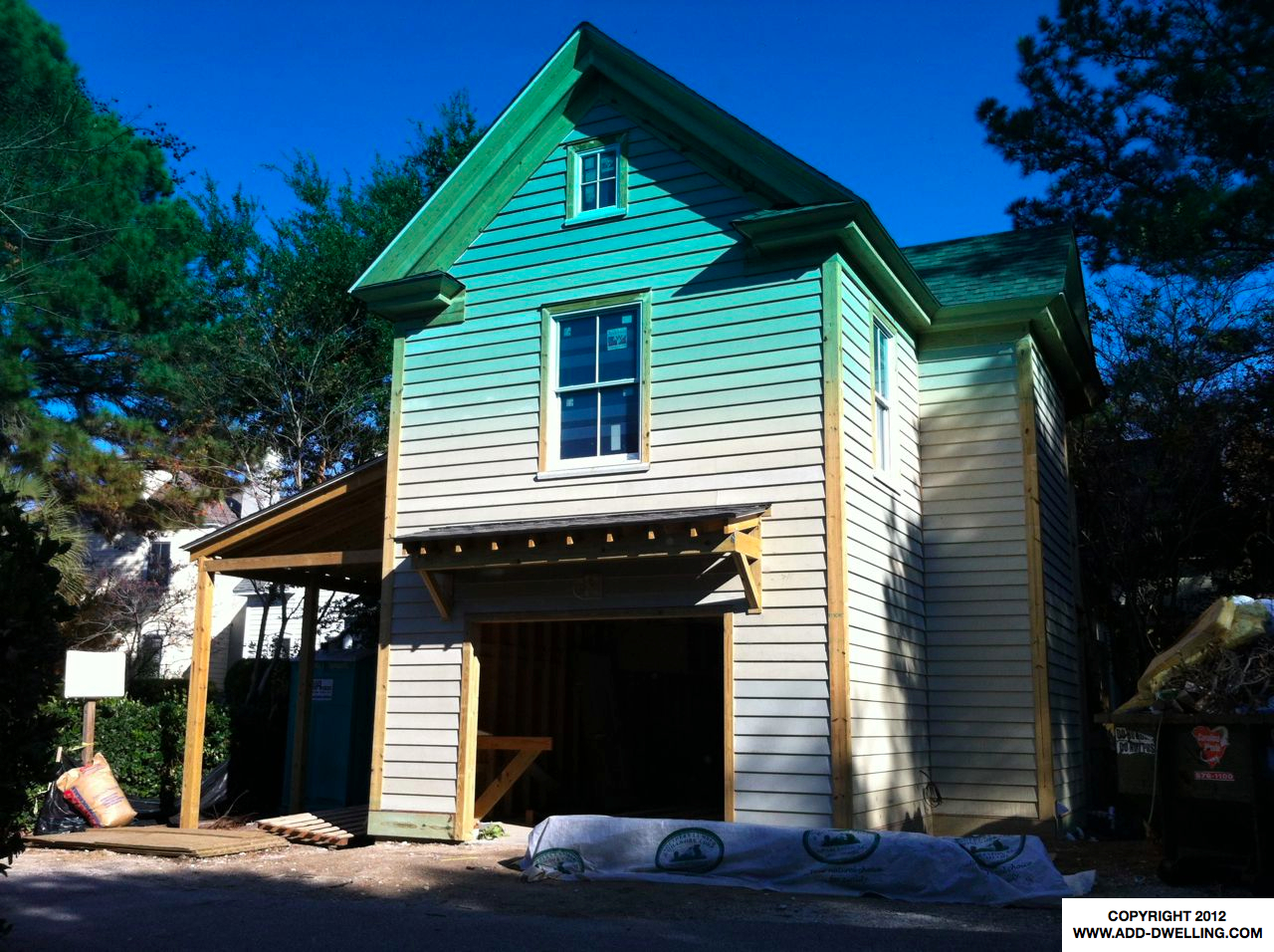 Carriage House under Construction in I'on Mount Pleasant